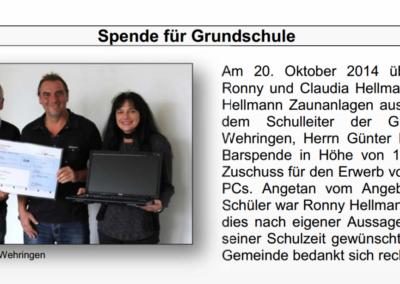 EDV_Spende_Ausschnitt_Gblatt